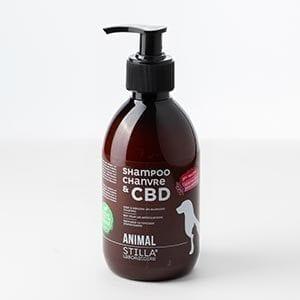 Animaux chien chat au chanvre CBD shampoing sensibilite