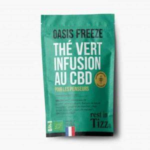A base de Chanvre BIO Thé Vert Oasis Freeze Infusion au CBD rest in Tizz rooibos thé
