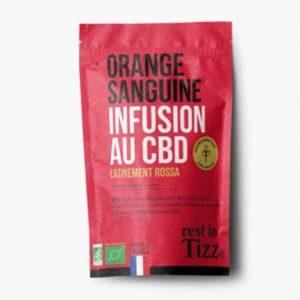 A base de Chanvre BIO Orange Sanguine Infusion au CBD rest in Tizz thé