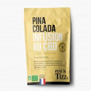 A base de Chanvre BIO Pina Colada Infusion au CBD rest in Tizz thé
