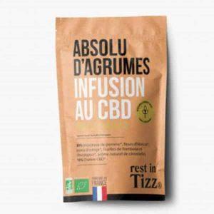 A base de Chanvre BIO Absolu d'Agrumes Infusion au CBD rest in Tizz thé rooibos