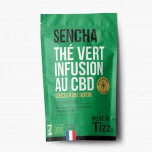 Thé Infusion Rooibos à base de Chanvre Sencha Vert Infusion au CBD rest in Tizz