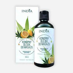 Cosmétique au chanvre huile de massage aux agrumes India Cosmetics
